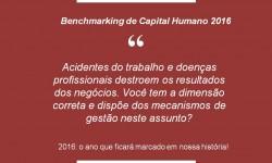 Benchmarking de Capital Humano 2016, o mais contemporâneo e tradicional estudo em nosso país!